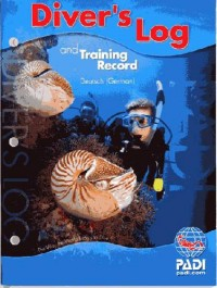 PADI Divers Log blue