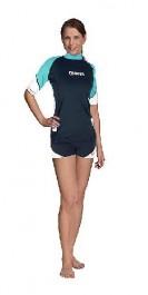 RashGuard s/sleeve loose Fit Lady aqua